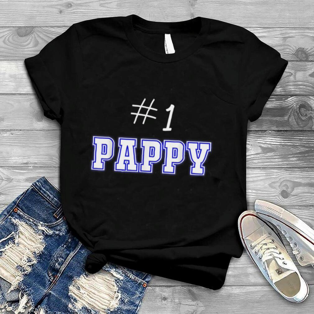 #1 Pappy Fathers Day Present Apparel Daddy Pa American Dad T Shirt