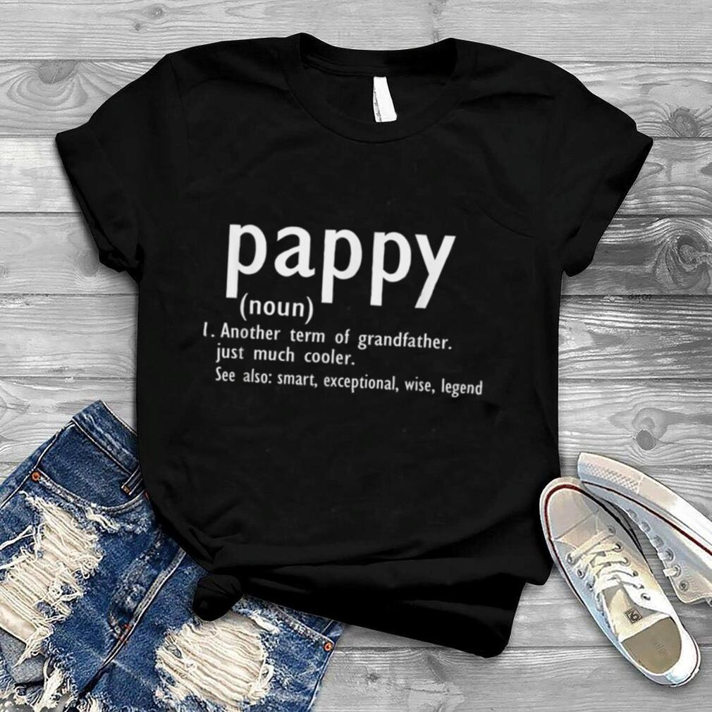 Pappy Definition Funny Fathers Day Pappy Christmas Gift T Shirt
