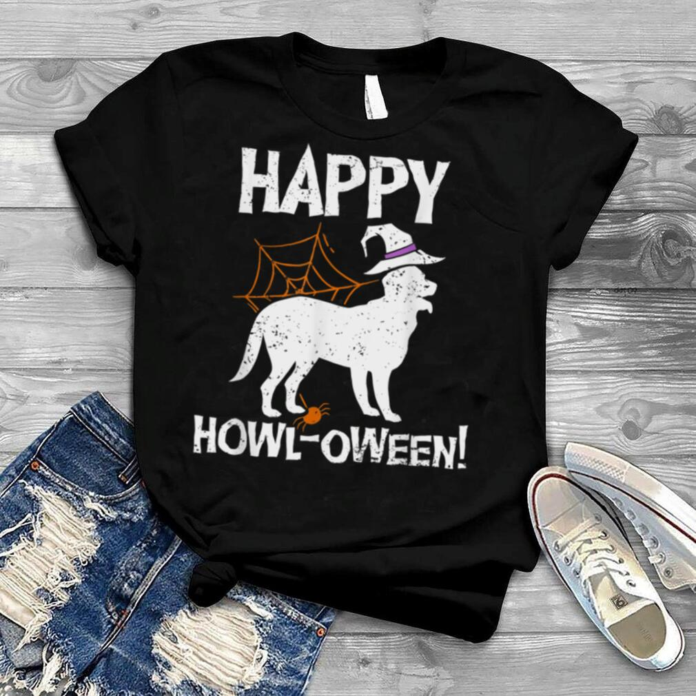 Funny Halloween Puns Happy Howl Ween Dog Lover Witch Costume T Shirt