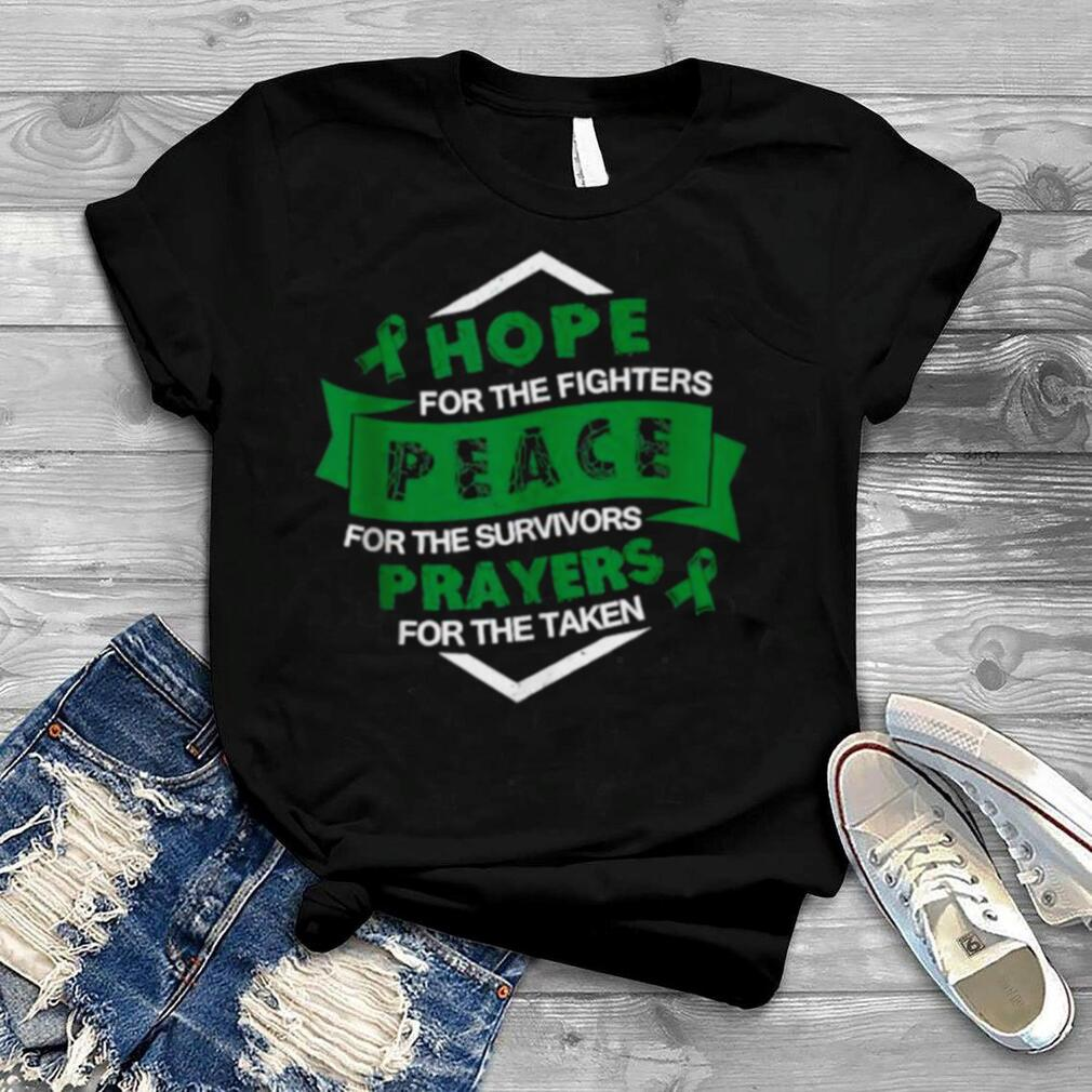hope For The Fighters Peace For The Survivors Prayers For The taken Biliary Atresia Awareness Supporter Ribbon T Shirt