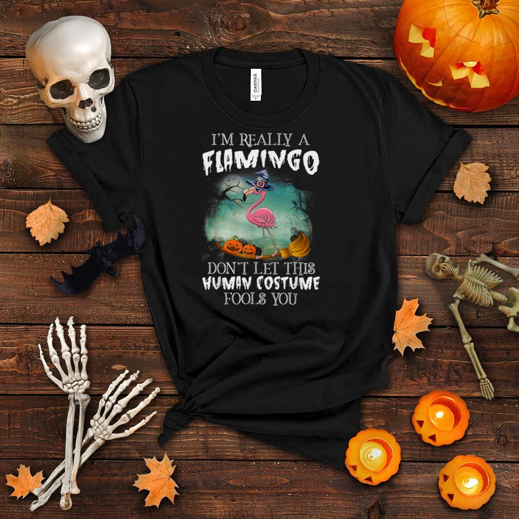 I'm Really A Flamingo Don't Let This Human Costume Halloween T Shirt