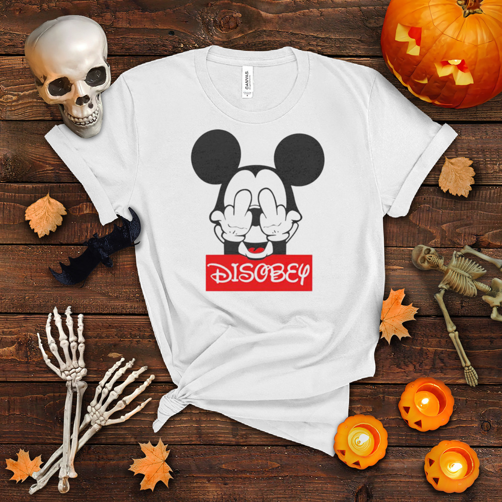 Mickey mouse disobey fuck off middle finger shirt