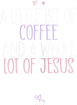 Womens Funny A Little Bit of Coffee and A Whole Lot of Jesus T Shirt